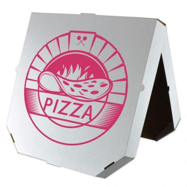 Производство коробоки для пиццы в Минске с нанесением логотипа